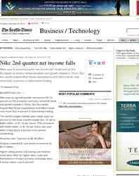Nike 2nd quarter net income falls: Seattle Times